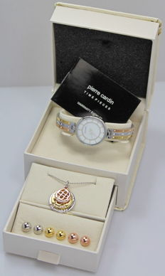 Pierre Cardin – Ladies' watch – Necklace and earrings – Gift set – Brand new, unworn.