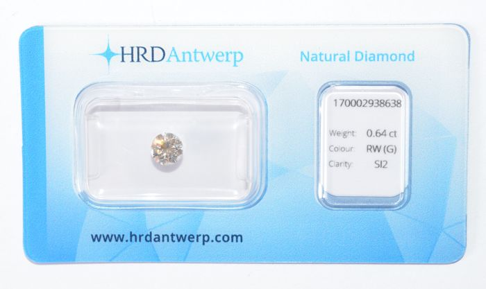 0.64 ct brilliant cut diamond RW (G) SI2