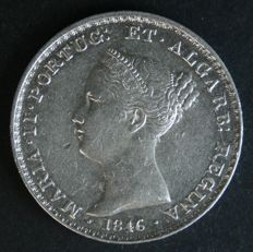 Portugal – 500 Reis (SILVER) – 1846 – D. Maria II – Lisbon – ALMOST UNCIRCULATED