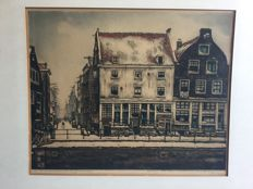 "Cornelis Brandenburg , 1883--1954 . Amsterdam "" Zwanenburgwal in de winter """