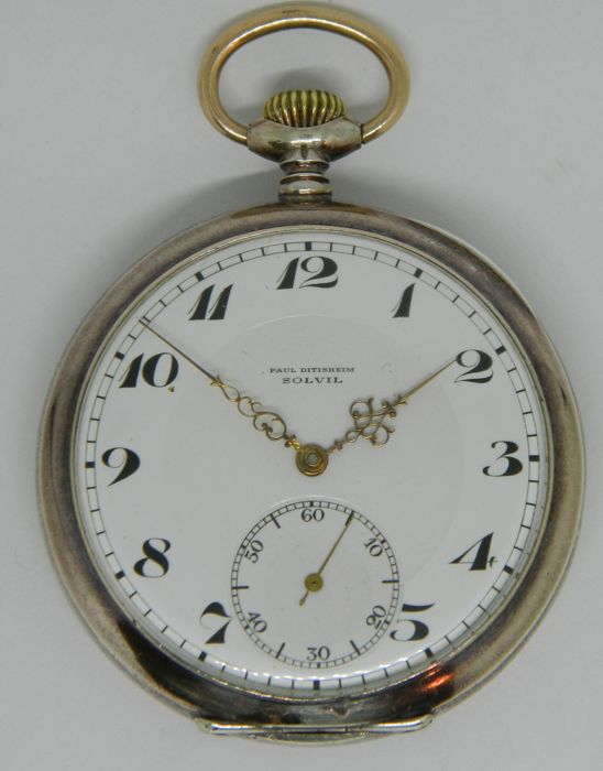 Paul Ditsheim Silver Pocket Watch  - 98234 - Hombre - 1901 - 1949