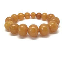 Vintage Art Deco period bracelet of Baltic Amber big size beads, Baltic region, 27 gram