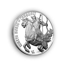 USA - 1 oz 999 Silver Coin, Four Horsemen of the Apocalypse - White Horse of Conquest - Horsemen of the Apocalypse - First Edition