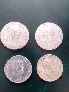 Italy, Kingdom of the Two Sicilies, lot of 4 coins