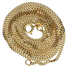 Necklace - yellow gold - length: 75 cm.