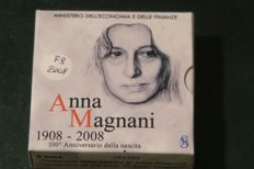 "Italy - 2008 - 5 euros commemorative coin - ""Anna Magnani - Proof - silver"