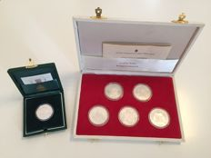 """Italy and Vatican - Medals - 1992 """"Cristoforo Colombo"""" + 500 lire John Paul II - Silver"""