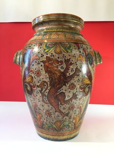 Large majolica jar of Caltagirone - Sicily, Italy