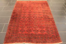 Beautiful old hand-knotted Art Deco oriental carpet – 140 x 195 cm – Afghan, made in Afghanistan