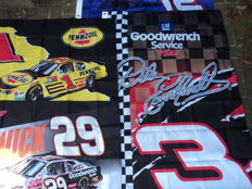4 original Nascar flags