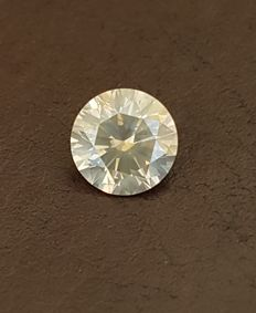 Diamond – 1.35 ct –  Fancy Yellowish Gray SI1 – Round Brilliant  – VG/VG/VG