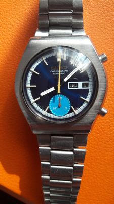 Seiko 6139-8020 sport 1970s   (excellent) Very clean parlement blue  dial