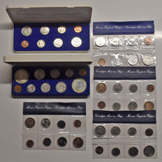 Belgium - Year packs 1976/1981 (6 pieces) incl. 2x silver 250 Franc 1976 with small B