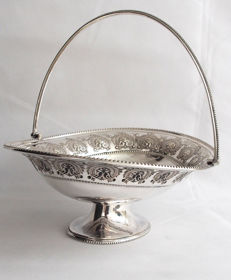 Antique Large Silver Plated Fruit Stand - Germany - Mid 19th Century