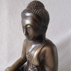 Bronze statue of Mandalay Buddha – Burma – 2nd half 20th century