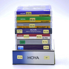 8 different Hoya filters 62 mm - new (1471)