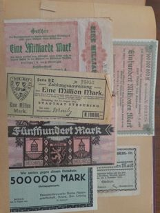 Germany - collection of banknotes - emergency money - 390 items - 1920's