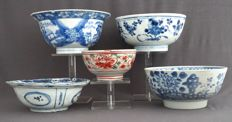 Collection of bowls – China – 16th, 17th and 18th century