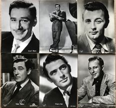 Celebrity postcards - 58 cards - 40/50 years