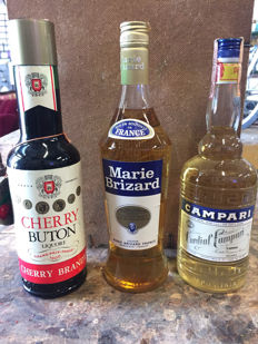 Cherry Buton, bottled 1970s & Marie Brizard, bottled 2nd half of 1970s & Campari Cordial, bottled circa 1970
