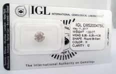 1.03 ct Round Brilliant - IGL certificate - H color - I2 clarity - Sealed **** NO RESERVE PRICE **** .