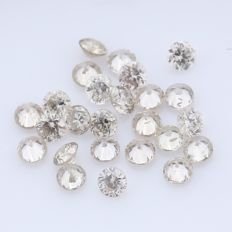 25 Round Brilliant Diamonds – 0.48 ct.  - no reserve price