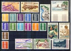 France and French Overseas Territories 1950-1955 – Selection of of complete and incomplete series.