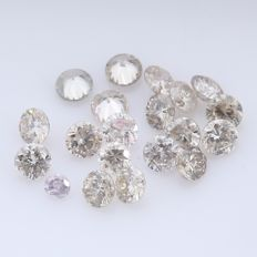 20 Round Brilliant Diamonds – 0.33 ct.  - no reserve price