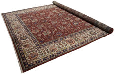 (Size 395 × 295 cm) Genuine Original Persian Rug (hand-knotted) (TABRIZ PERSIA IRAN) – From 1940s/50s – With certificate of authenticity from official expert – (Galleria Farah 1970)