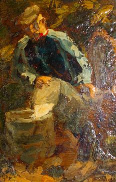 Unknown (20th century) - old man with tub