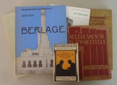 H.P. Berlage; Lot with 6 publications - 1908 / 1971