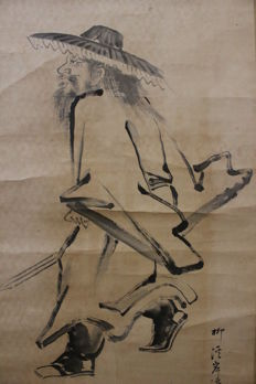 Scroll panting by Kishinami Seiji depicting Shoki – Japan, second half of the 19th Century