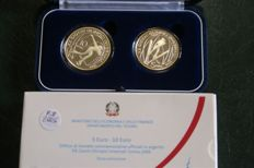 Italy – 2005 - 5 and 10 Euro commemorative coins - 'Turin Winter Olympic Games 2006' – 1st issue (2 coins) – Silver