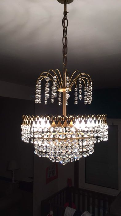 Beautiful antique crystal chandelier 1970 catawiki beautiful antique crystal chandelier 1970 aloadofball Images