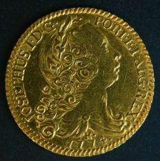 "Portugal – Peça in GOLD – 1774 – José I ""JOSEPHUS"" – PORTUGUESE BRAZIL – ABOUT UNCIRCULATED - VERY RARE IN THIS CONDITION"