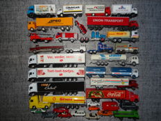 Wiking/Herpa/Welly/Matchbox and others H0 - 35 piece lot model cars