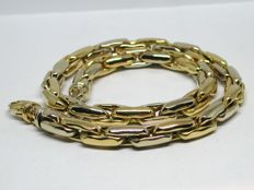 18K Yellow & White Gold Ladies Necklace and Bracelet Set Sony Link