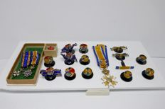 Various Royal honours and lapel badges