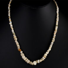 Necklace with Roman glass, shell and stone beads - 49 cm