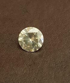 Diamond – 1.09 ct –  Fancy Yellowish Gray SI1 – Round Brilliant  – EXC/VG/VG