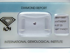 Natural Fancy  Pink Brilliant cut diamond 0.07 ct with I.G.I certificate ***No minimum price***