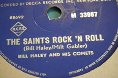 21 78 rpm records, 10 inch - Pat Boone, Bill Haley - 3x Platters, all top artists with sleeves