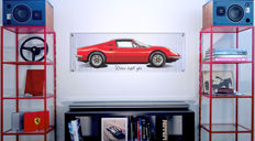 Halmo Collection Ferrari  DINO 246 GTS plexiglass print