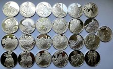 Belgium - various medals (1977) 'The Masterpieces of Rubens' (25 different ones) - silver