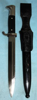 Parade model Bayonet/Dolch, short model Germany, with sheath and frog -in very good condition, Maker: C. Lutters & Co.. Solingen, WW2