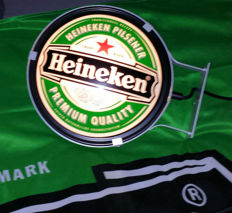 Heineken wall sign with double sided lighting - Heineken flag 1.00 x 1.50 m - late last century