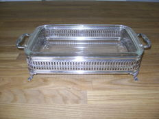 Silver plated serving bowl, William Adams, towle, Italy 20th century