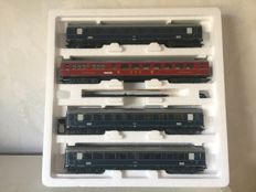 "Märklin H0 - 43237 - 4-piece set express train carriages ""Rheingold"" of the DB"