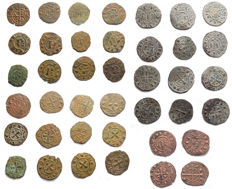 Italian Mints – Lot of 20 Swabian and Aragonese coins from the 12th Century (including rare typology)