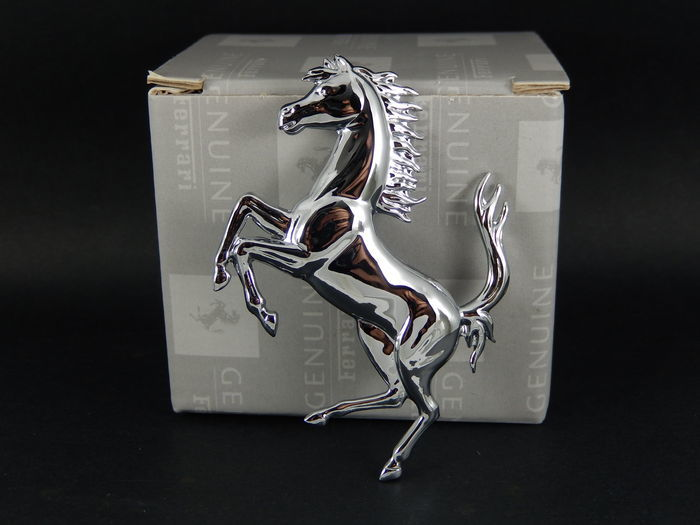 Badge - Boxed Genuine Ferrari Prancing Horse Car Badge - 2017